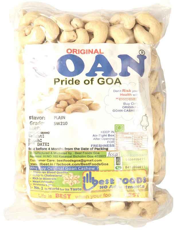 Original Goan X-Large Size Plain Cashews