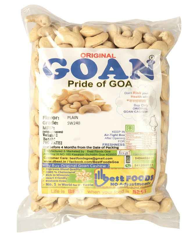 Original Goan Large Size Plain Cashews
